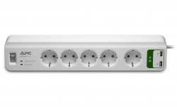 APC Essential SurgeArrest 5 outlets with 5V, 2.4A 2 port USB cha