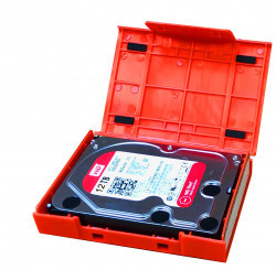 WarrantyCare 3,5 Harddisk Storage en Protection Box Red 5-Pac